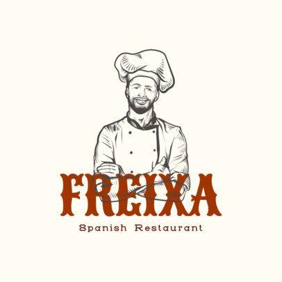 Modern Spanish Restaurant Logo Maker with Handwritten Typeface 1916e