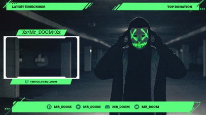 Neon Twitch Overlay Maker with Webcam Frame 1249d