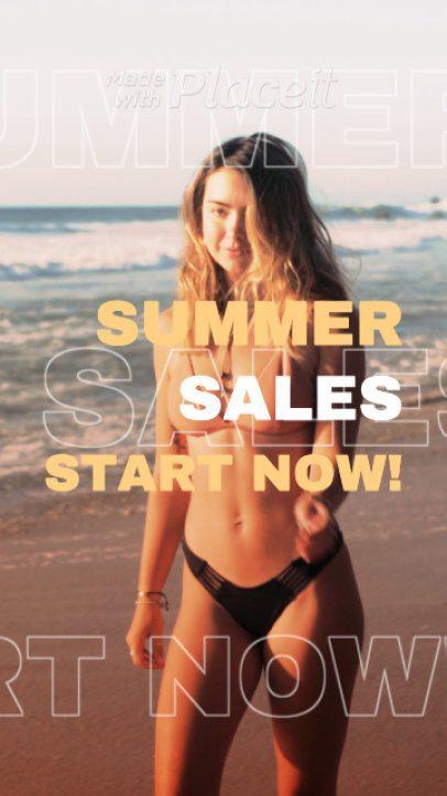 Instagram Story Video Maker for a Summer Sale 1609
