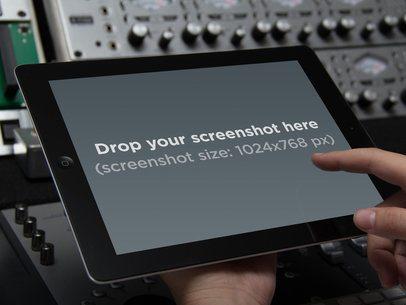 Black iPad Music Studio