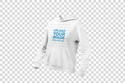 Ghosted Mockup of a Women's Pullover Hoodie 26955