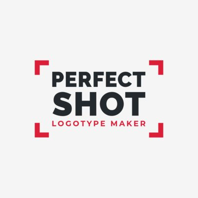 Photography Logo Maker with an Abstract Shot Frame 2171