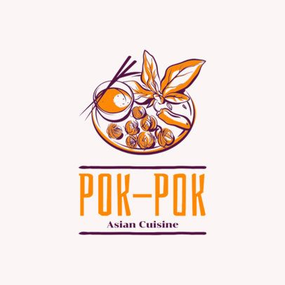 Thai Food Logo Generator with a Dish Clipart 1838b
