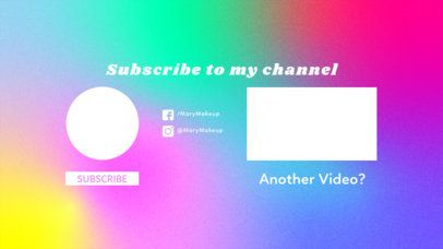 Colorful YouTube End Screen with a Blurred Surface 1255e