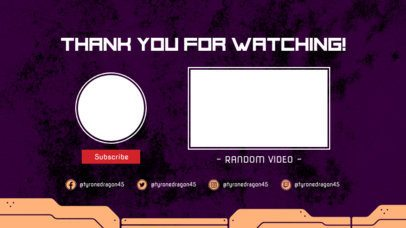 Modern YouTube End Screen Maker with a Thanks For Watching Message 1265d