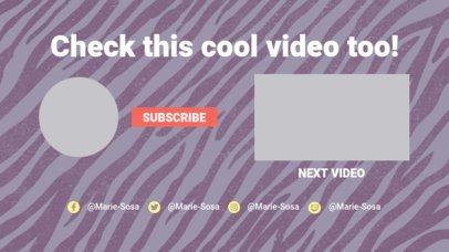 YouTube End Card Generator Featuring a Zebra Design 1261b