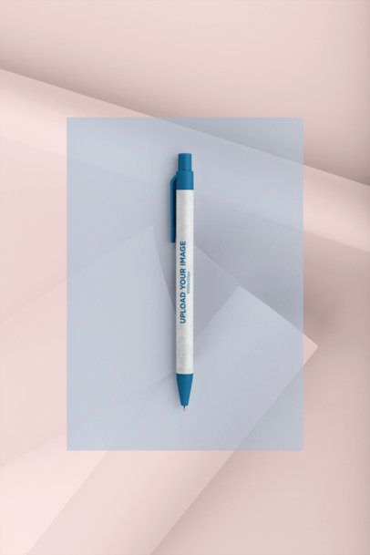 Pen Mockup with a Color Customization Minimalist Background 23588
