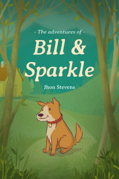 Children's Book Cover Maker with a Cute Dog Illustration 541c