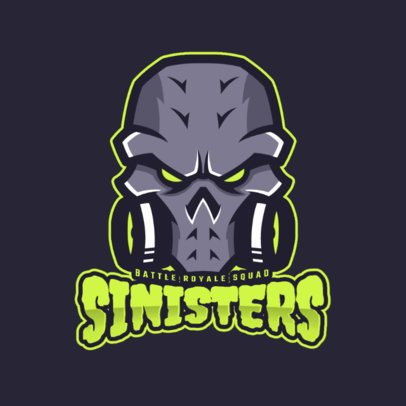Gaming Logo Template Featuring a Fantasy Skull Clipart 1750f