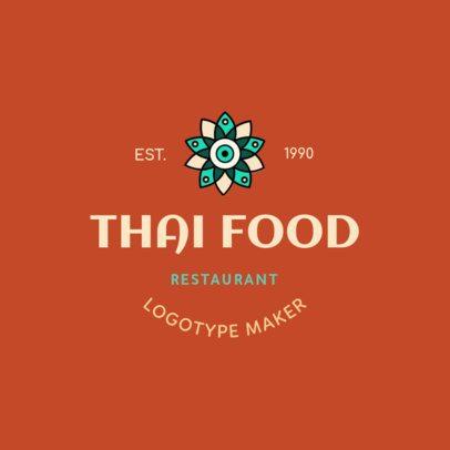 Thai Food Logo Maker with a Minimalist Design 1846