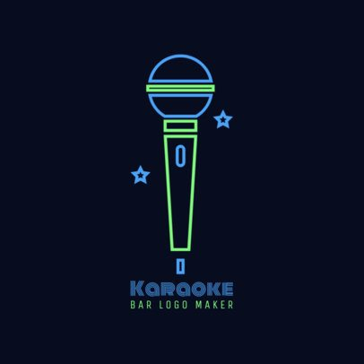 Karaoke Bar Logo Maker 1680c