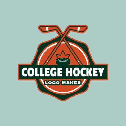 College Hockey Logo Maker 1562c