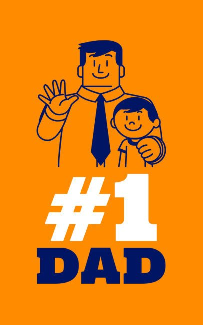 Father's Day T-Shirt Maker with a Family Illustration 1152k