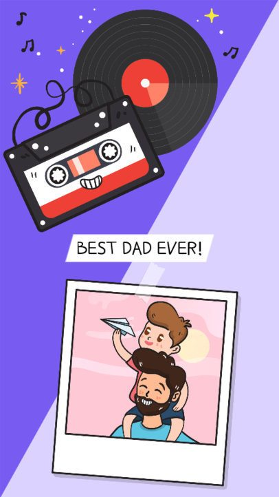 Instagram Story Maker for a Father's Day with an Instant Picture Illustration 587f