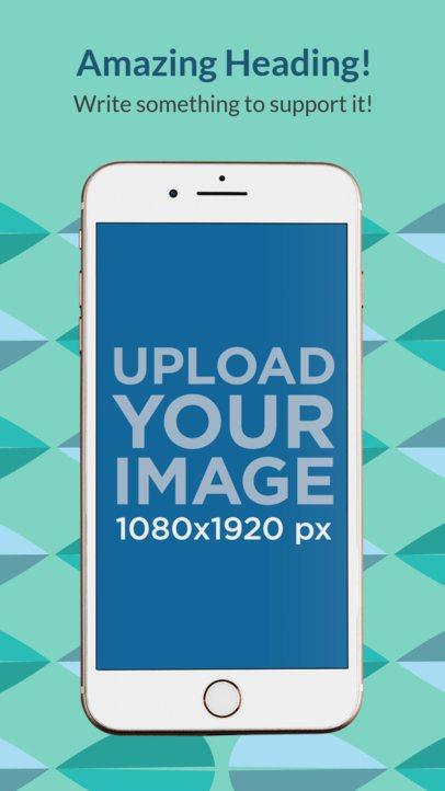 App Store Screenshot Generator of an iPhone 8 in Portrait Position 1326b