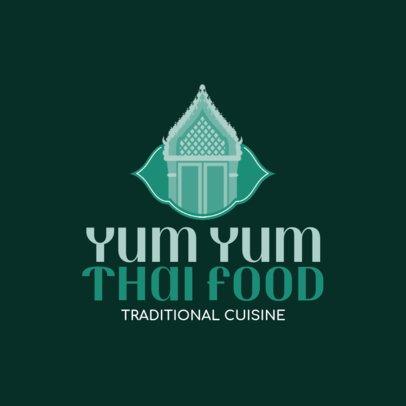 Logo Design Template For a Traditional Thai Kitchen 1843e
