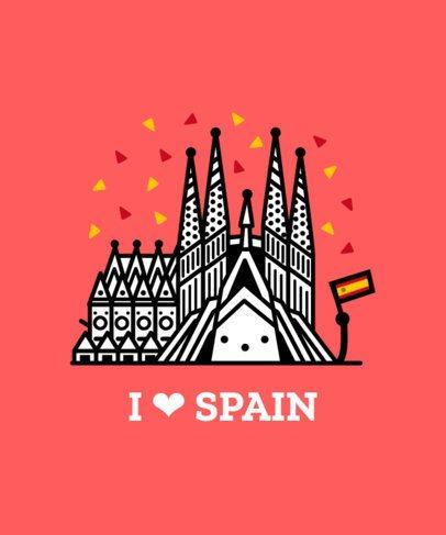 Spanish T-Shirt Design Maker for Patriots 1407c