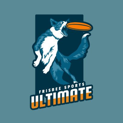 Frisbee Team Logo Maker with Player Character 2223