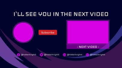 Simple YouTube End Screen Template with a Next Video Panel 1431