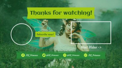 YouTube End Screen Template with a Fairy Tale Theme 1435d