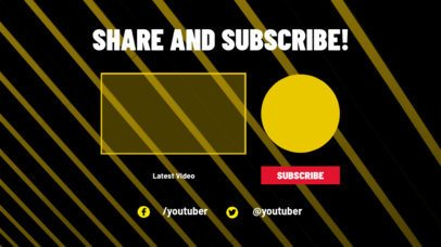 Minimalistic YouTube End Card Maker with a Share and Subscribe Panel 1440d