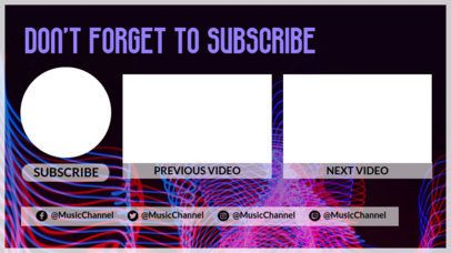 Modern YouTube End Card Maker with a Glowing Lines Surface 1429e