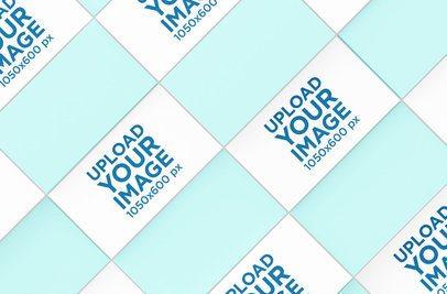 Business Card Mockup Forming a Mosaic Pattern 47-el