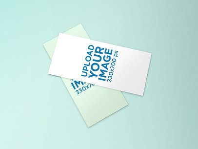 Mockup of Two Overlapped DL Flyers Against a Minimalist Background 57-el