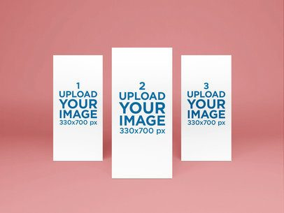 Mockup Featuring Three DL Flyers Against a Plain Background 53-el