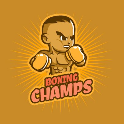 Gaming Logo Generator with a Boxing Athlete 1872b