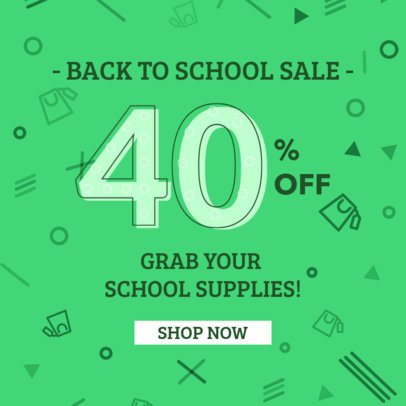 Ad Banner Maker for a Back-to-School Discount 286f