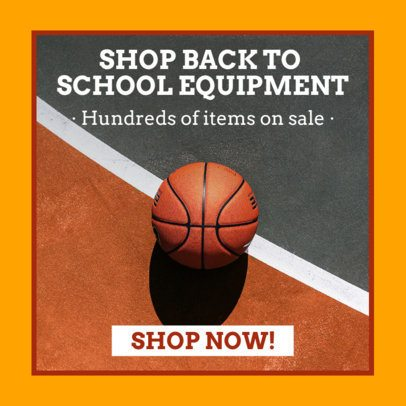 Banner Generator for a Scholar Sports Equipment Sale 16644g