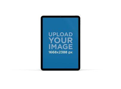 Minimalistic Mockup of an iPad Pro in Portrait Mode 77-el