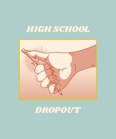 T-Shirt Design Template for Rebel High-Schoolers 1523