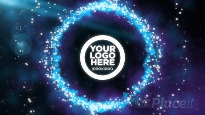 Logo Reveal Intro Maker with Animated Cosmic Particles 1706