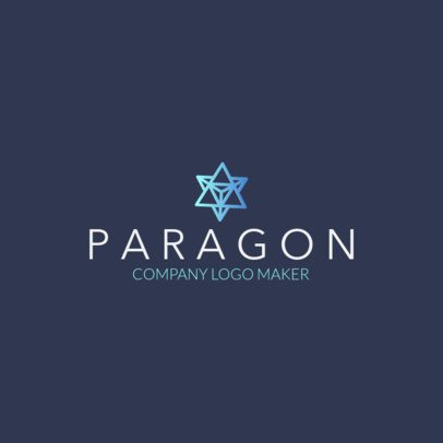 Company Logo Maker with a Star Polygon Icon 1518k
