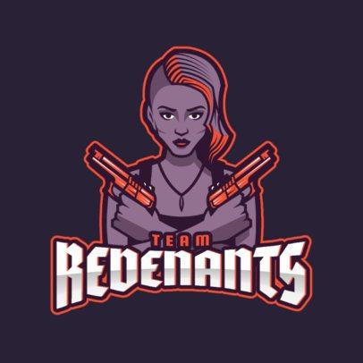 Bold Gaming Logo Maker for Battle Royale Female Players 1749g
