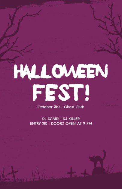 Halloween Fest Online Flyer Creator 196g