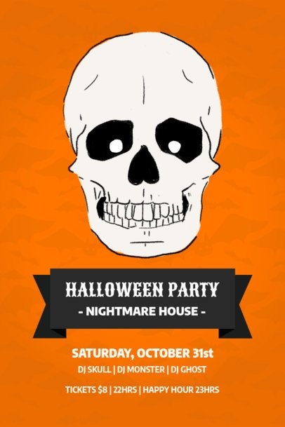 Online Flyer Maker for a Halloween-Themed DJ Party 60g