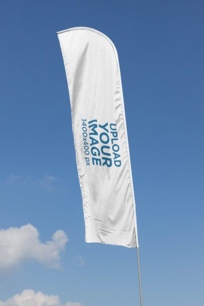Flag Banner Mockup Featuring a Clear Blue Sky 28032