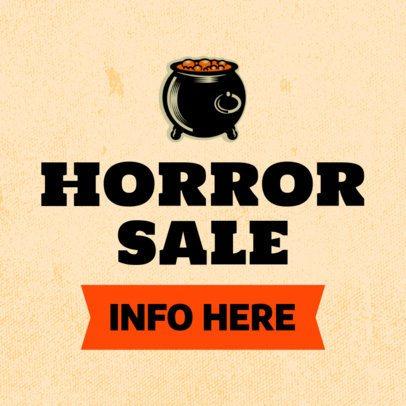 Horror Banner Maker Featuring a Boiling Cauldron 755h