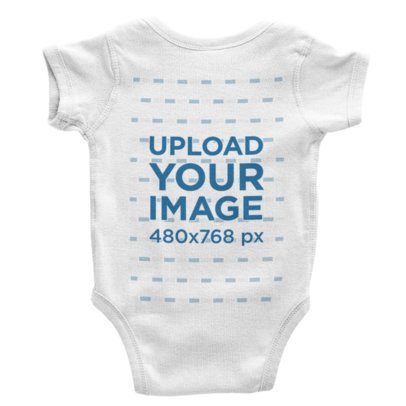 Back View Onesie Mockup With a Plain Background 226-el