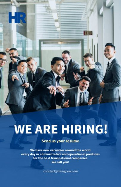 Flyer Design Template for Recruitment Company 516c