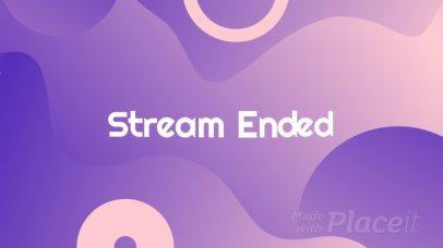 Twitch Streaming Ending Video Maker with Wavy Animations 1607