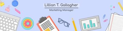 LinkedIn Banner Template for a Marketing Manager 1595a