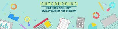 Outsourcing-related LinkedIn Banner Maker 1595b