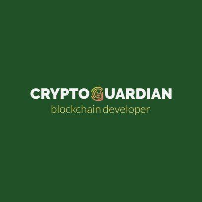 Virtual Financing Logo Maker for a Blockchain Developer Company 1798j 2342