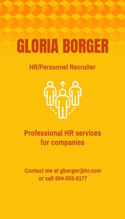 Vertical Business Card Maker for an HR Agency 672d-1903