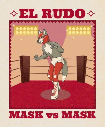 Mexican Animals T-Shirt Design Maker 1635j