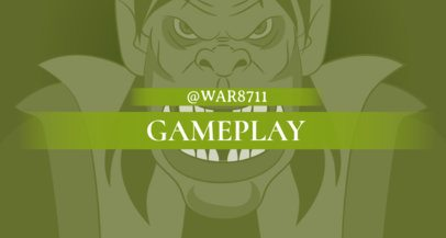 Twitch Banner Maker Inspired by The Horde Wow 1460g--1651